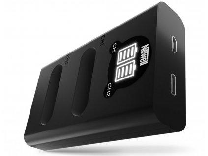 Rychlostní USB-C duální nabíječka EN-EL23 baterií pro Nikon