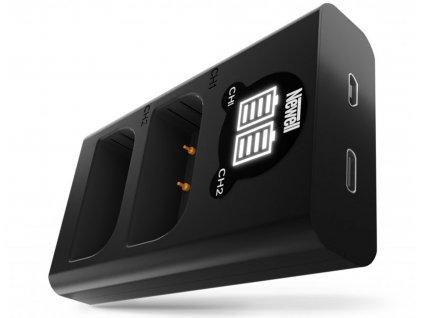 Ładowarka dwukanałowa Newell DL USB C do akumulatorów DMW BLF19 01 HD