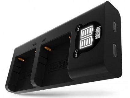 Ładowarka dwukanałowa Newell DL USB C do akumulatorów NP F550 770 970 01 HD