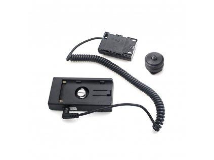 Dummy baterie Canon LP-E6 s F970 adaptérem