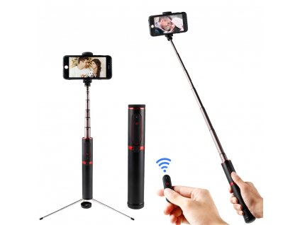 ASHANKS Bluetooth Selfie Stick Mini Tripod 3 in 1 Monopod Selfie Stick Bluetooth Wireless Remote Shutter (1)