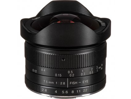 "7Artisans 7,5mm f/2,8 ""Rybí oko"" APS-C objektiv (Micro 4/3)"