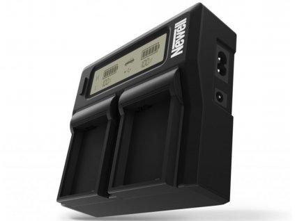 Duální LCD nabíječka pro Canon LP-E6 baterie
