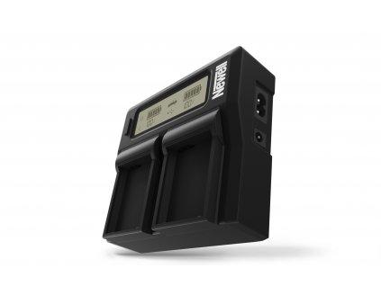 Duální LCD nabíječka pro Sony NP-FP50 baterie
