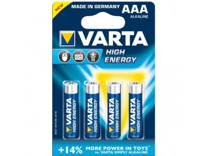 Varta tužkové AAA baterie (4ks)