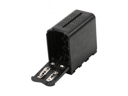 NP-F970 zásobník pro 6x AA baterii (levné napájení monitorů, či led světel)