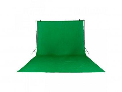 Fotografické plátno green screen bavlna 2x3m (zelené)
