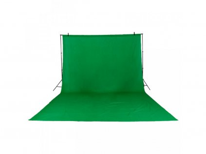Fotografické plátno green screen bavlna 3x4m (zelené)