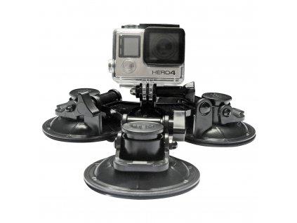 Tříbodová přísavka pro sportovní kamery