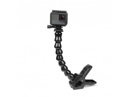 Ate Jaws Flex kelep e da ile esnek ayarlanabilir Gooseneck GoPro Hero i in 8 7