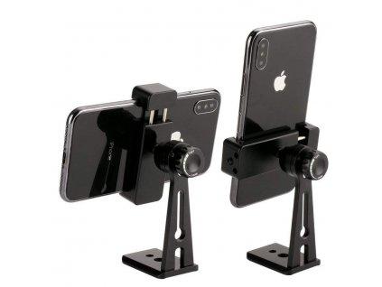 Otočný stojan pro smartphony z hliníku (velice pevný)