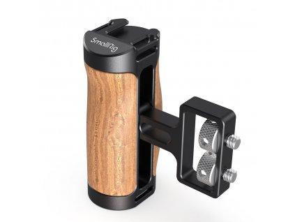 SmallRig 2913 boční rukojeť pro klece (dřevěná)