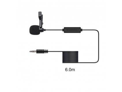 Klopový mikrofon na kameru i zrcadlovku Comica V01CP (6 metrů)