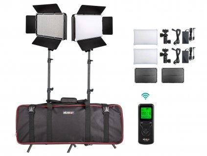 Sestava 2x video led světlo Viltrox VL-D640T + stativy a brašna