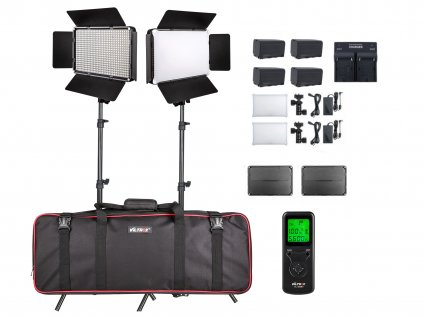 Video trvalá světla - Viltrox VL-D640T - KIT dvou světel a stativů