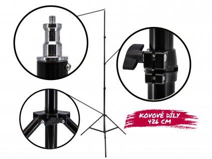 Stativ pro světla 4,2m (pevný, nosnost až 15 kg)