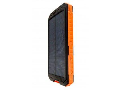 Solární power banka 10000 mAh oranžová s kompasem
