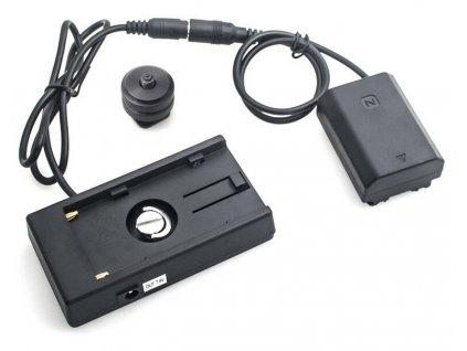 Dummy baterie Sony NP-FZ100 s F970 adaptérem (rovný kabel)