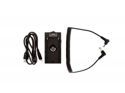 Sony NP-F battery plate s 12V výstupem a USB porty + Napájecí kabel BlackMagic DC5,5 - 2,5mm