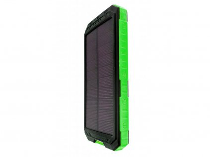 solarni power banka 10000 mah zelena s kompasem