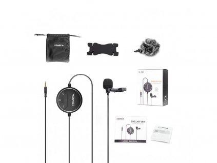 (ROZBALENO) Comica Audio SIG.LAV V03 klopový mikrofon pro DSLR i mobil
