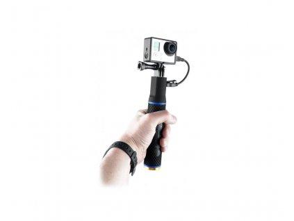 Rukojeť s vestavěnou baterií pro sportovní kamery