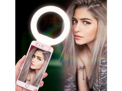 Ulanzi ISF Dimmable LED Flash Selfie Ring Light Supplement Brightness for Youtube Vlogger shows Universial Clip