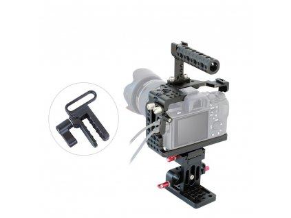 Kamerová klec pro Sony A7R III a A7 Mk 3 + horní rukojeť a 15mm základna
