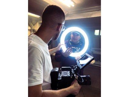"""18"""" 80W kruhové LED světlo + stativ 2,6 metry (ring light)"""