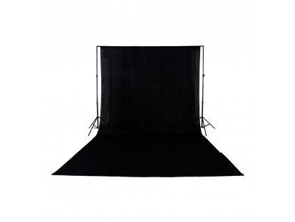 Fotografické plátno 100% bavlna 3x4m (černé) fotopozadí