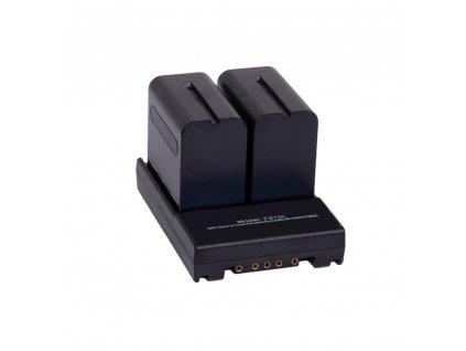 Adaptér z V-mount na Sony NP-F baterie (studiová světla, kamerové rigy a další)