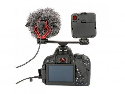 Ulanzi Microfono accessori Dual Hot Shoe Mount Staffa di Estensione Bar Piastra Adattatore 1 4 per (1)