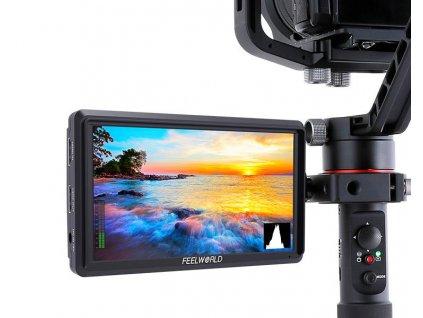 "FeelWorld FW568 - 5,5"" IPS 4K HDMI náhledový monitor s Full HD rozlišením 1920x1200"
