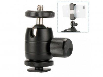 New Ulanzi U 30S CNC Metal 1 4 Screw Thread Tripod Rotating 360 Degree Mini Ball