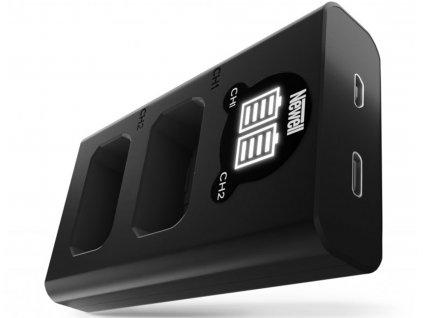 Rychlostní USB-C duální nabíječka NP-FW50 baterií
