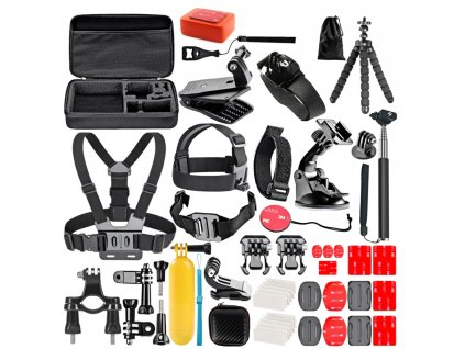 FOSOHALO 50 In 1 Action Camera Accessory Kit for GoPro Hero 1 2 3 3 4