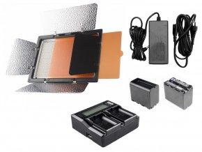 LED světlo YONGNUO YN-900 (3200K-5500K) + 2ks baterie a nabíječka