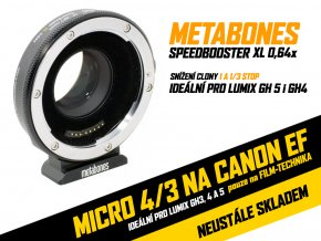 Metabones T Speed Booster XL 0,64x adaptér pro Full-Frame Canon EF-Mount na m4/3 kamery