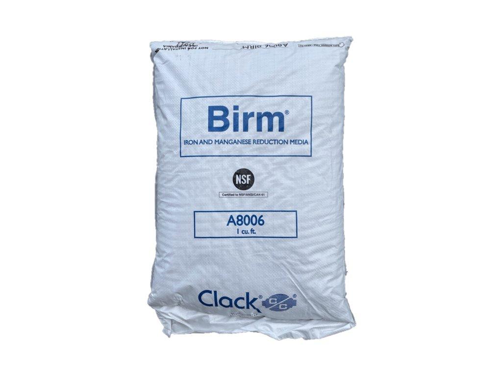 Birm filtrační materiál k odstranění železa a manganu
