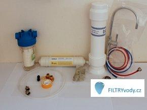 Filtrační sestava na bakterie, pesticidy, hormony a další škodliviny