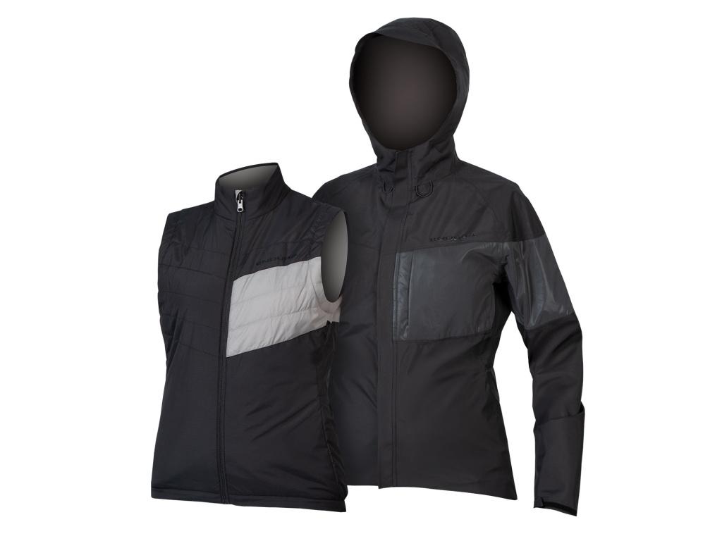 Dámská bunda 3v1 Endura Urban Luminite II, Černá