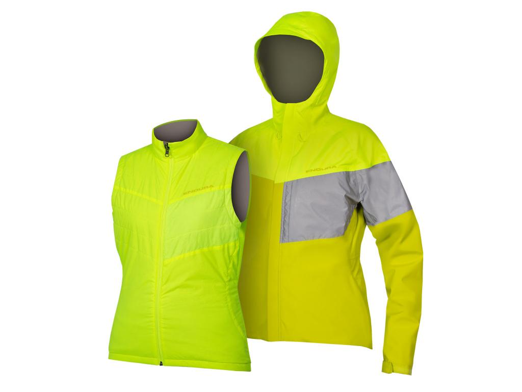 Dámská bunda 3v1 Endura Urban Luminite II, Svítivě žlutá
