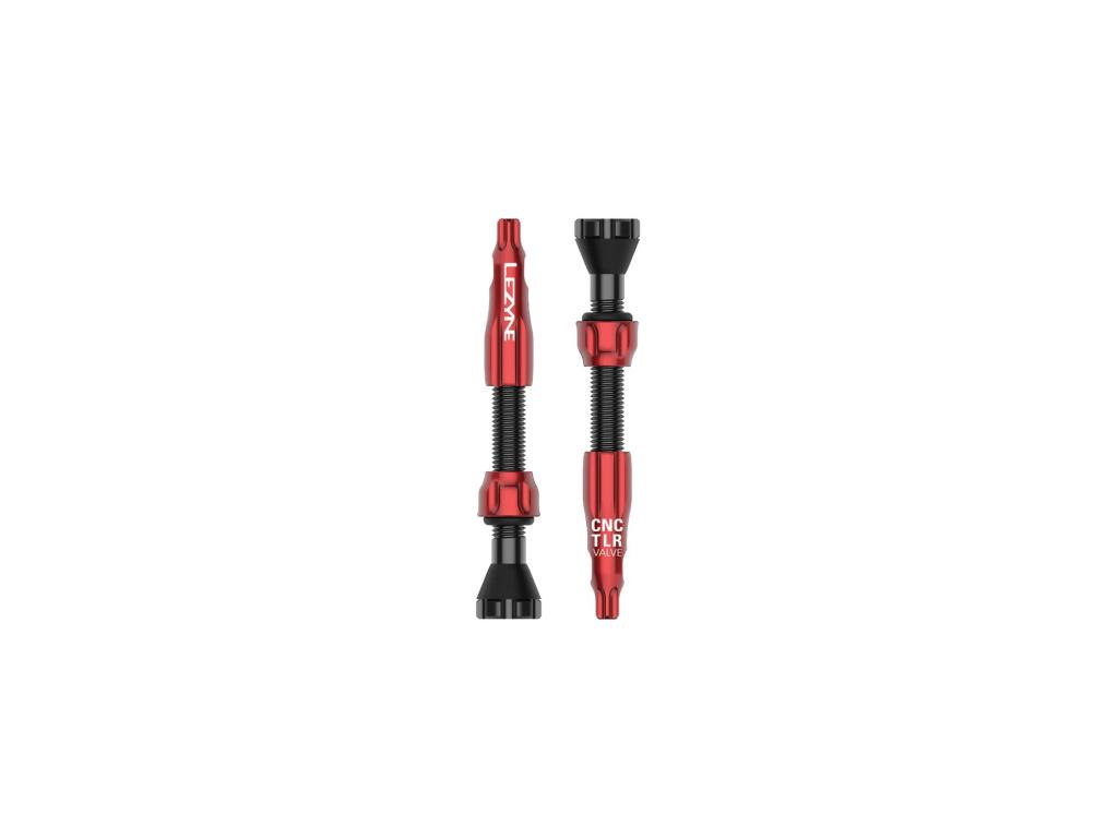 Bezdušové ventilky Lezyne CNC TLR Valves, Červené