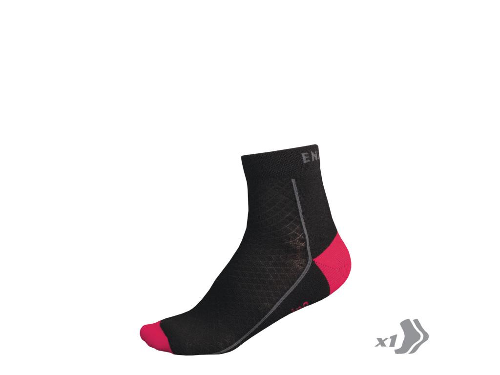 Endura Dámské zimní BaaBaa Merino ponožky (1-balení), Růžová