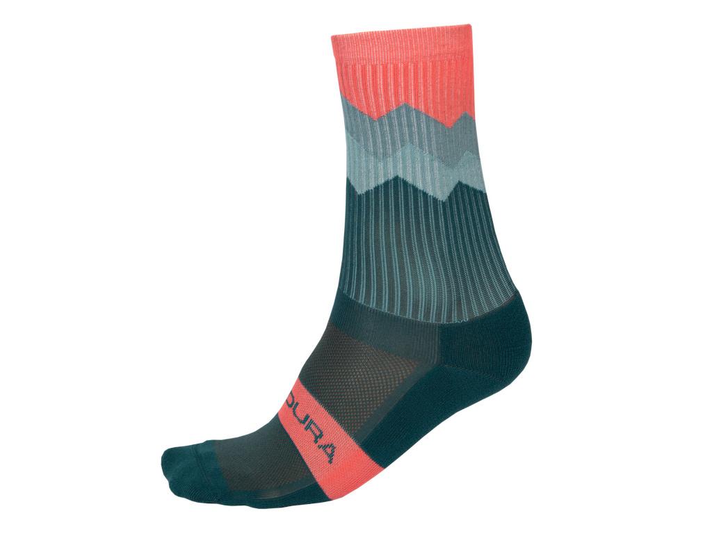 Ponožky Endura Jagged, Smrkově zelená