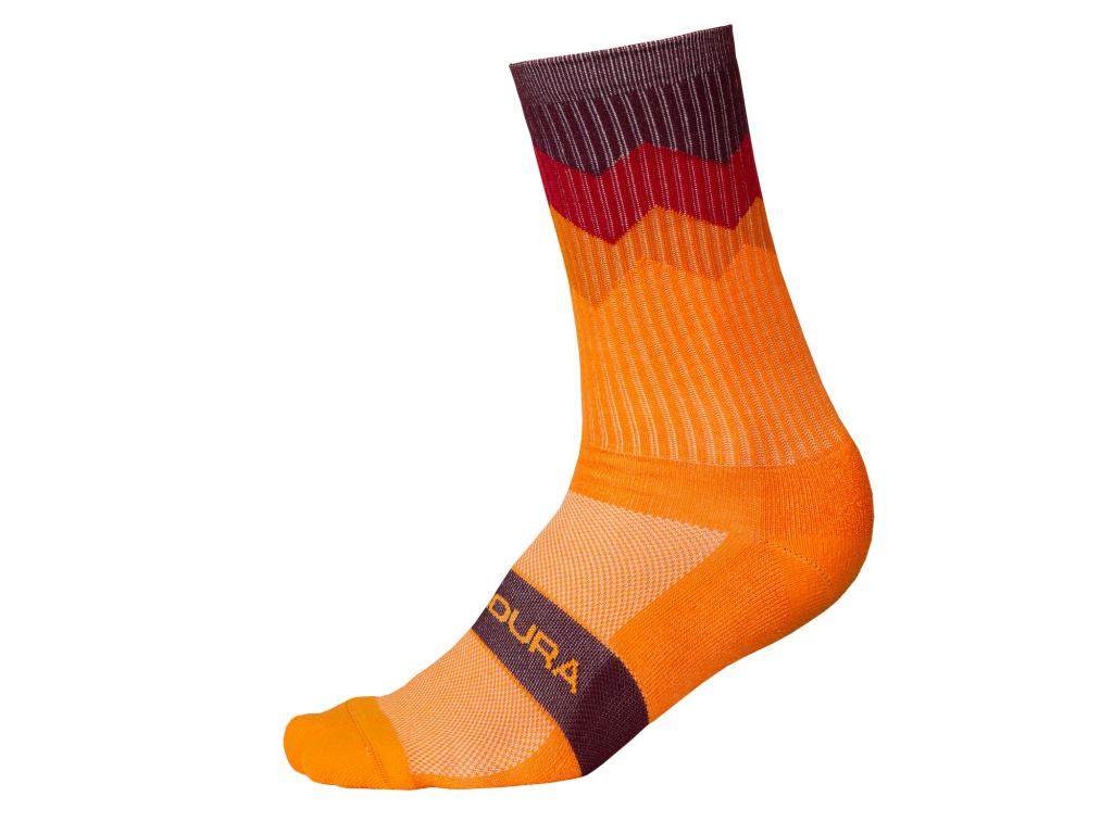 Ponožky Endura Jagged, Mandarinková