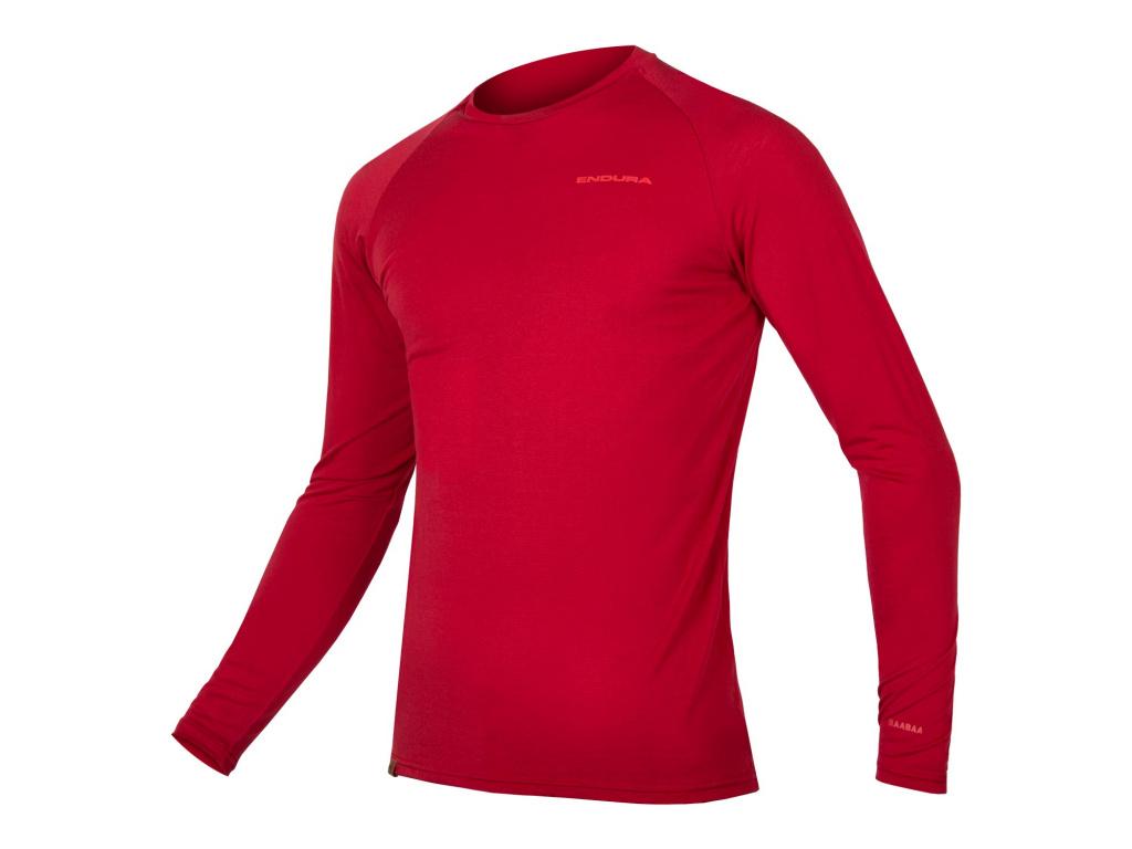 Endura BaaBaa Merino spodní vrstva - dlouhý rukáv, Rezavě červená