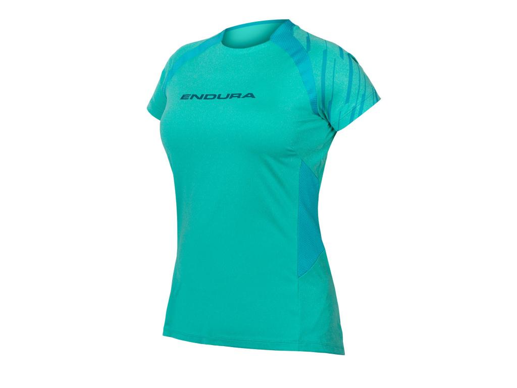 Dámský dres Endura SingleTrack s krátkým rukávem, Modrá Pacifik
