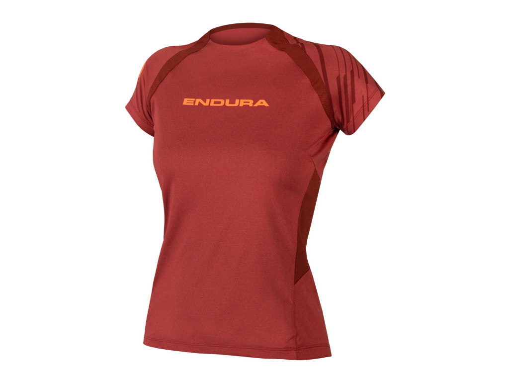 Dámský dres Endura SingleTrack s krátkým rukávem, Kakaová