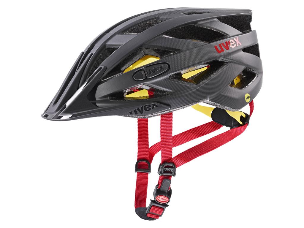 Helma Uvex I-VO CC MIPS, Titan / Red Matt